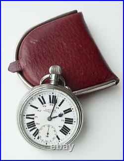 LONGINES POCKET WATCH for Serbian Royal Railroad ca1900s with case