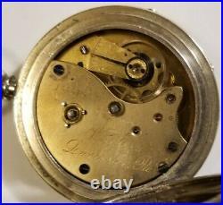 Lancaster 18 size West End 10 jewel key wind pocket watch (1886) nickel case