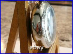 Large -18SZ Elgin Pocket Watch- in Nickel Silver Case, Serviced- Runs Good -15 j