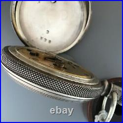 Large Elgin Key Wind Beautiful Coin Silver Case Total Weight 158 Grams