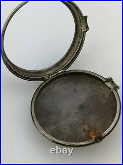 London 1807 Silver Verge Pocket Watch Outer Pair Case Empty Part (K22)