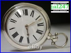 London 1857. George Border, Sleaford. Silver Pair Cased Verge Fusee Pocket Watch