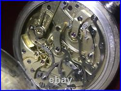 Longines Chronograph 19,73 Silver Case Pocket watch 19.73N