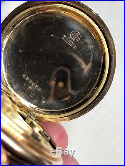 Longines Chronograph Pocket Watch In 14k Hunter Case