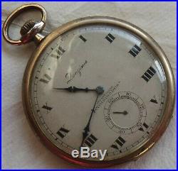 Longines Pocket watch open face gold filled case 50 mm. In diameter balance Ok