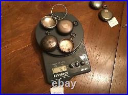 Lot 6 Antique Sterling Silver Coin Silver Pocket Watch Case Lot 238 Grams Scrap
