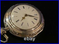MASSIVE 62 MM J. FRIED PAIR CASE FUSEE POCKET WATCH, 1700s