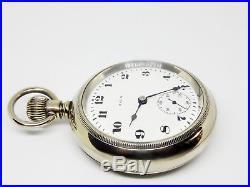 Mega Rare Antique 18s Railroad 21J Elgin Father Time Pocket Watch Salesman Case