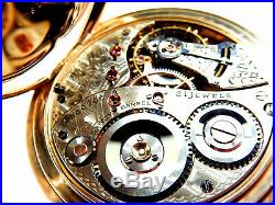 Mega Rare Antique 18s Railroad 21J Elgin Veritas Pocket Watch Original Case Mint