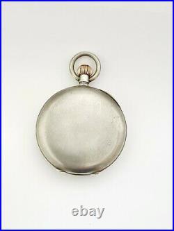 Minerva chronograph nickel case pocket watch for repair