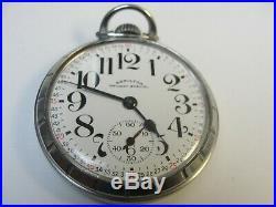 Model 5 992B 16s Hamilton Railway Special 21j RR Pocket Watch Stainless Case