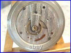 Monster -18SZ Waltham Pocket Watch-7J- in Alaska Silver Case, Serviced-61.50 MM
