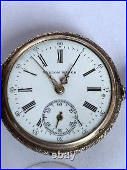 Multi colored 14k Gold Hunting case pocket watch