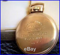 Never Carried Hamilton 992b Combo Rr Watch Rws Dial (j. Boss)10k Mainliner Case