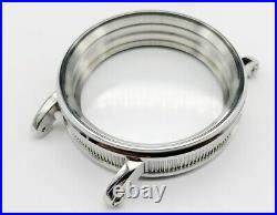 New 48mm Stainless Steel Case for Conversion Antique Pocket Watch Movement