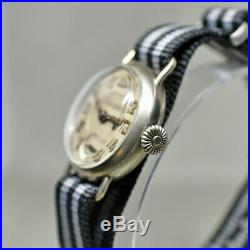 Nice C1916 Wwi Military 15j Imperial Trench Watch Buren Ore Silver Case Runs