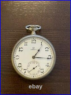 OMEGA pocket watch 15 jewels steel case open face