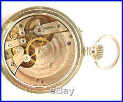 ORIGINAL LONGINES Pocket Watch Porcelain Dial Working HUNTING CASE SCENE
