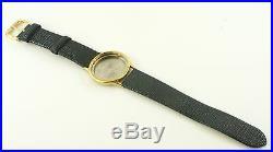 Omega 1365 Quartz 32mm Gold Plated Case + (nos) 18mm Black Leather Watch Strap