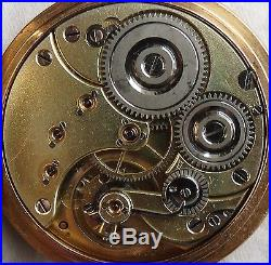 Omega XFine Chronometer Pocket Watch open face 18K solid gold case enamel dial