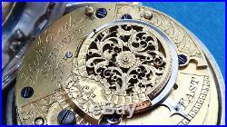 Pair Case Verge Fusee Pocket Watch Richard Eade Steyning London 1860 Serviced