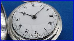Pair Cased Pocket Watch Verge Fusee London 1800 Montre Coq Spindeluhr