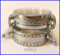Partially Engraved Wristwatch Cases For Pocket Watch Movements
