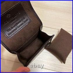 Patek Philippe VIP Dark Brown Leather Watch case Travel Pouch Authentic NEW