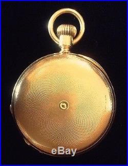 Patek Phillipe 18k Gold Hunter Case Pocket Watch Very Early (1874)