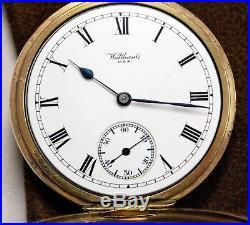Pocket Watch 1917 Waltham USA 15 Jewel 10ct Gold Filled Dennison Moon Case