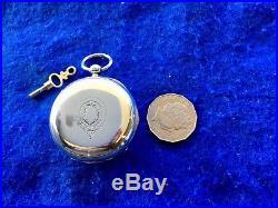 Pocket Watch Waltham Year 1883 Size 18 Solid Silver English Case Serviced Runs