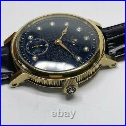 Pocket movement Rolex Eaton in a Stainless Steel 45mm case. Custom made watch