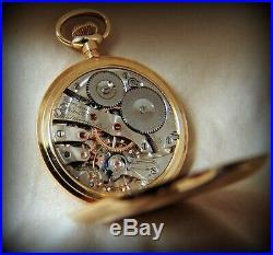 Pristine Condition 16sz 23J Waltham Pocket Watch Heavy 18K Gold Hunter Case