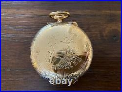 Pristine Reuge Cased Pocket Watch with oringal case and sale receipt in 1986