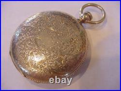 RARE 1863 WALTHAM 18k SOLID GOLD HUNTING CASE MODEL 1861 POCKET WATCH CIVIL WAR