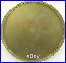 RARE 1940s BULOVA 17J 17AH 14K SOLID GOLD POCKET WATCH ORIGINAL DISPLAY CASE