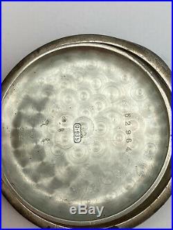 RARE ANTIQUE Marlboro No. 8430 Split Second. 935 SILVER 53 mm Case POCKET WATCH