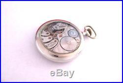 RARE GRD 555 16 s Rockford Pocket Watch Glass Back Case Display Salesman USA