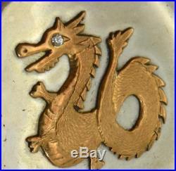 RARE Qing Dynasty Juvet Chinese Duplex silver Dragon case pocket watch c1850