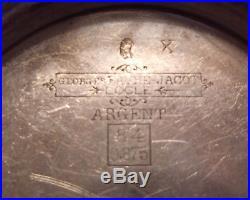 RUNS 1880 Favre JACOT SWISS Key POCKET WATCH for Russia 875 Silver Hunter Case