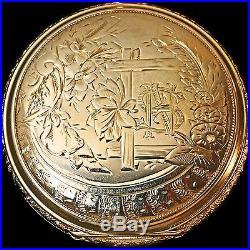 Rare 1890s Keystone Watch Co West End 14K Yellow Gold Hunter Case Pocket Watch
