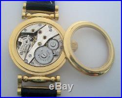 Rare ANTIQUE THEO MOSER & Co S. A. Schaffhausen Swiss Wristwatch Gilt case