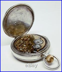 Rare Antique Englisch Quarter Repeater in Sterling silver case