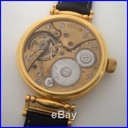 Rare Big ANTIQUE DOXA Swiss Wristwatch in Gilt case