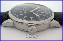 Rare Big Military DOXA LOCLE Swiss Wristwatch in Steel Case Aviator Pilots WW2