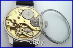 Rare Big Military JWC Schaffhausen IWC Swiss Watch Steel Case Aviator Pilots WW2