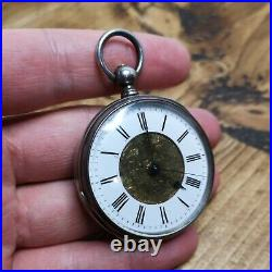 Rare Chinese Duplex Pocket Watch, Unmarked Silver Case, To Restore (E89)