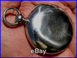 Rare Pair Case 24 Hour Dial 13 Jewels Key Wind Pocket Watch Waltham P S Bartlett
