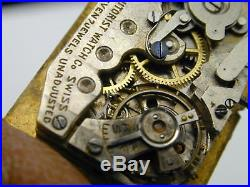 Rare Rare John Harwood Autorist, Super Case, Tapestry Dial Needs Service