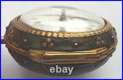 Rare Shagreen Silver P/case Pocketwatch Verge Fusee Square Pillars C1771 Working